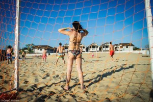 футбол на песке